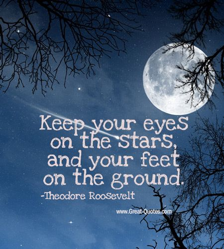 _Keep your eyes on the stars, and your feet on the ground__